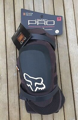 Fox Launch Pro D30 Knee Guards - Black - MTB DH Mountain Bike Knee Pads
