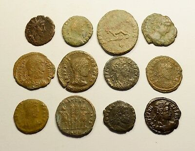 Lot Of 12 Imperial Roman Bronze Coins - 029