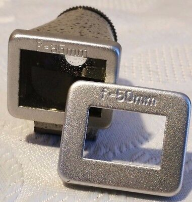 EHO ALTISSA ALTIX 35mm 50mm  Metal Viewfinder Frame Finder Black