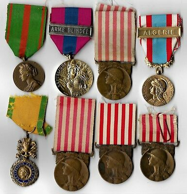 Ww1 & And Other French Medals Bargain Lot. France Ww2