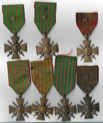 Ww1 & And Other French Medals Bargain Lot. France War Crosses