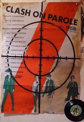 thE CLaSH ON PAROLE TOUR 1978 POSTER 1977 PunK rOCk    sex pistols