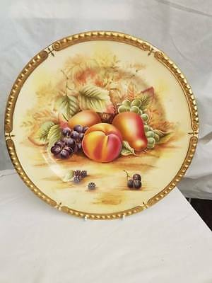 Large Aynsley Orchard Gold Plate - green backstamp