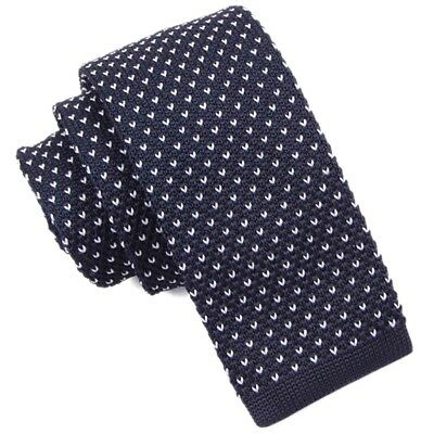 Spotted Knitted Tie Burgundy OR Navy - High Quality