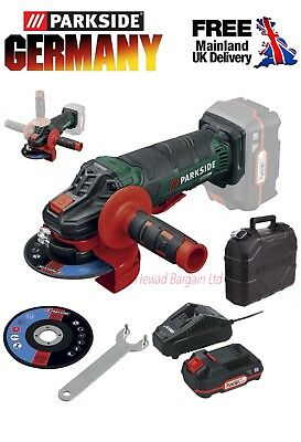 Powerful 20V Cordless Angle Grinder + Battery + Charger And Carry Case
