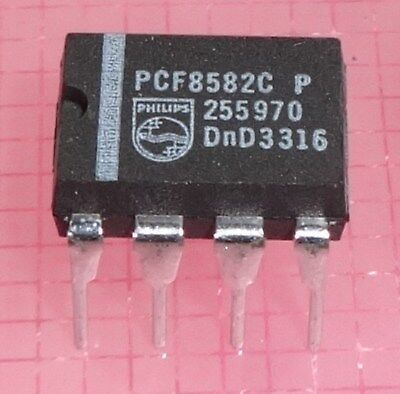 IC´s Bauteile - Konvolut PCF8582C EEPROMS with I2C-bus interface DIL-8