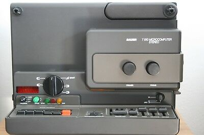 Super 8 Stereo Projektor Bauer T 610 Microcomputer Stereo,TOP ZUSTAND""""""