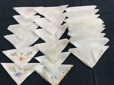 Collection of vintage Ladies Handkerchiefs