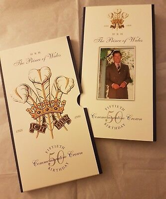 1998 HRH The Prince of Wales 50th Birthday Commemorative Crown