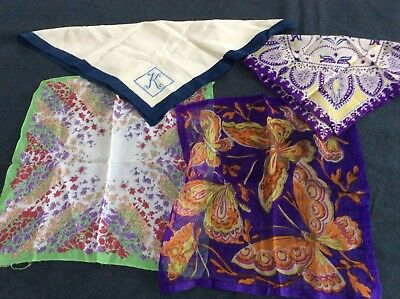 4 vintage Ladies handkerchiefs.