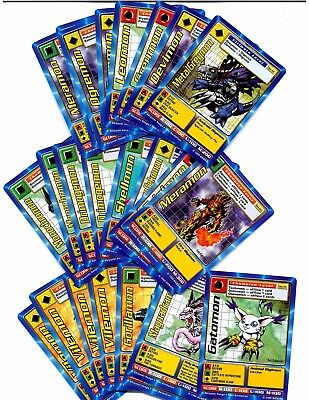 Digimon Near Complete Set + dups (total 66 cards) 1st Edition 1999 Trading Cards