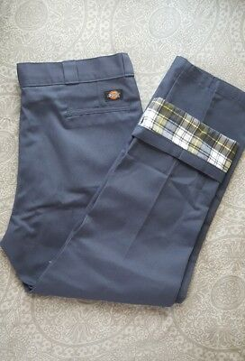 DICKIES 40X30 Lined/RELAXED fit blue Work Pants new