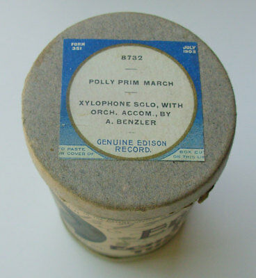 EDISON 2 Minute Cylinder. Polly Prim March. Xylophone Solo A. Benzler. OBL #8732