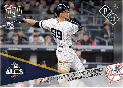 2017 Topps NOW MLB 776 Aaron Judge Solo HR in 7th & RBI Double in 8th Comeback