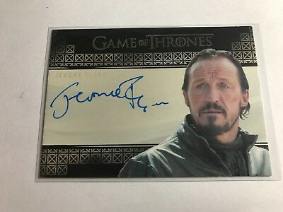 2017 Rittenhouse Game of Thrones Valyrian Steel Jerome Flynn Autograph as Bronn