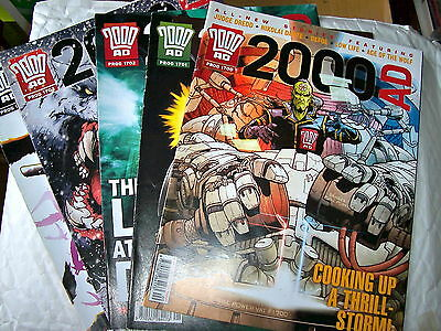 2000Ad Back Progs 1700-1779 Any 2 For £1.50  - All Ex Condition Judge Dredd