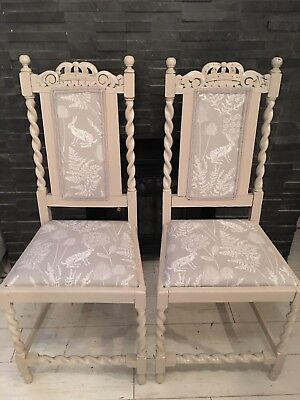 4 dining chairs Antique Shabby Throne Style Carver Louis Gothic