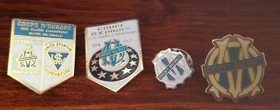 lot pins om olympique de marseille coupe d'europe des clubs champions