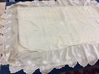 Antique Silk Pram / Cot Cover.