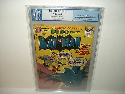 Batman #101 (Aug 1956, DC) PGX 4.0  Golden Age The Great Bat-Cape Hunt