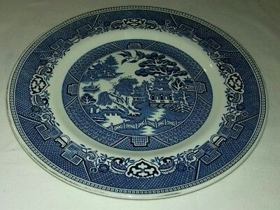 Irish Pottery - Willow Pattern 10 Inch Plate by Arklow Pottery Ireland