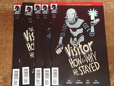 The Visitor How & Why He Stayed (Hellboy Mignolaverse) #1-5 (1,2,3,4,5) Full Set