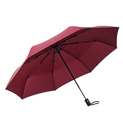 Handy Travel Umbrella-Sports,Outdoor,Windproof,Reinforced Canopy,Ergonomic Red