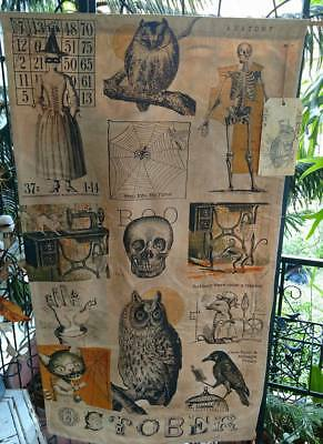 Sew Scary Door Hanger Banner Halloween October Fall Primitive Handmade Decoratio