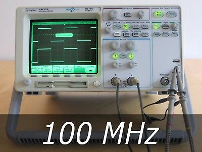 HP / Agilent 54622A 2-channel 100 MHz Oscilloscope + 2  New Probe. Very clean