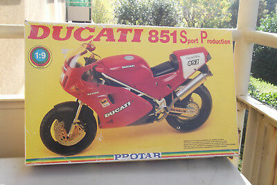 Protar Provini 1:9 Kit Moto Ducati 851 Sport Production Made In Italy
