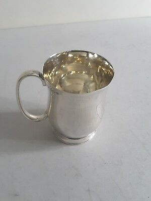 Small Antique Solid Silver Bellied Christening Mug.  Ht. 7.5Cms.  Sheff.1897