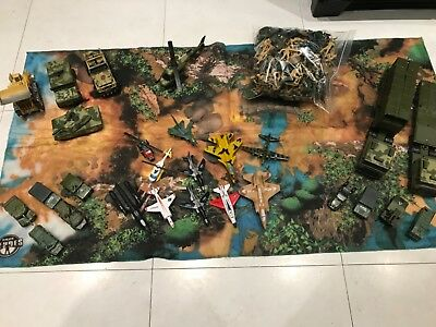 Army toys bundle incl die cast tank plane soldiers helicopter military play