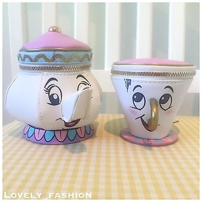 Brand New Beauty And The Beast Mrs Potts & Chip Purses Primark Disney Teapot Cup