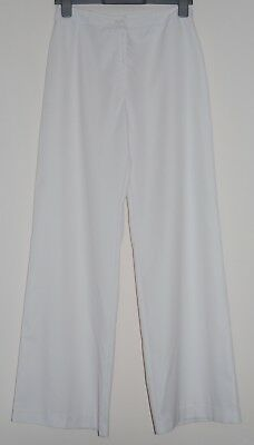 True Vintage 70's Ladies White Flared Trousers, size 14, to fit hips 97cm