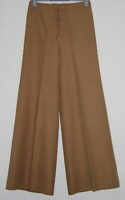True Vintage 70's Ladies Camel Flared Trousers, size 14, to fit hips 97cm
