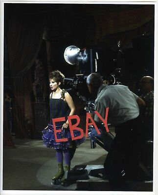Rare Barbra STREISAND on-set filming production FUNNY GIRL color photo EC2126