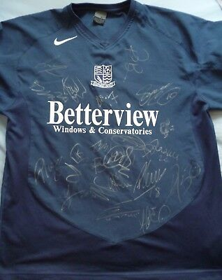 Southend United Signed Shirt x21 - Football Autograph, Roots Hall, Ranger, Cox