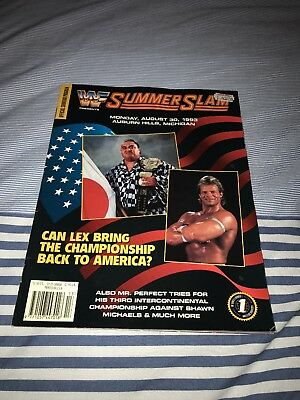 WWF WWE Official Summer Slam 1993 Souvenir Program