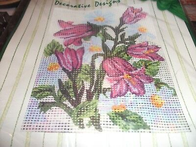 """Tapestry kit of flowers  20"""" x 25"""""""" - new unoopened"""