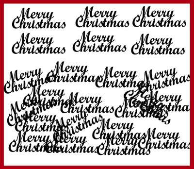 20 Merry Christmas Title Die cut Embellishment Card Topper Tag Scrapbooking