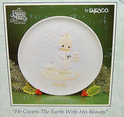 """Precious Moments Plate, """"He Covers The Earth With His Beauty"""", 8.5"""", NEW"""