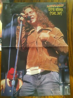 Pearl Jam Original Rare 90's Poster Eddie Vedder Mother Love Bone