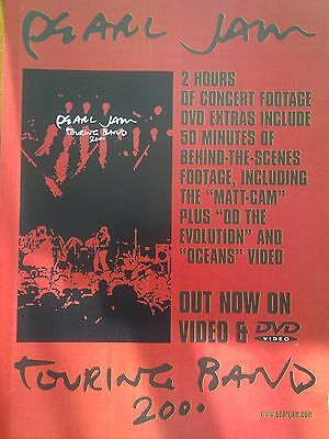 Pearl Jam Original Touring Band Rare Poster Vedder Mother Love Bone not dvd Live