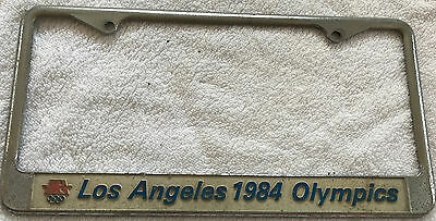 Vintage Collectable Los Angeles Olympics 1984 License Plate Surround good cond