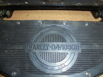 Harley Davidson WLA & WLC _ New black footboards with NOS rubbers fitted
