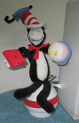 2003 Universal Studios Talking Cat In The Hat Plush Doll With Ball Base Dr Seuss