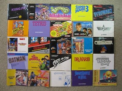 Lot of 25 Nintendo NES Game Instruction Manuals Books Booklets