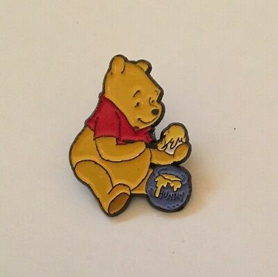 Winnie the Pooh with honey, metal pin badge