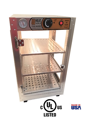HeatMax 14x14x24 Humidified Commercial Food Warmer for Pizza, Empanada, Pastry