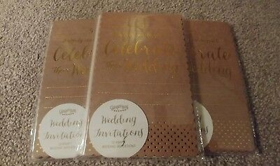 30 Wedding invitations 3x packs of 10 including envelopes